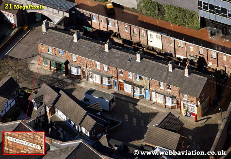 coronation st tv set